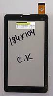 """Сенсорний екран (тачскрін) для планшета FM707101KE (184*104 мм) 30pin 7"""", чорний"""