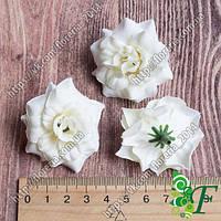 Роза бархатная 45мм кремовая за 12 шт