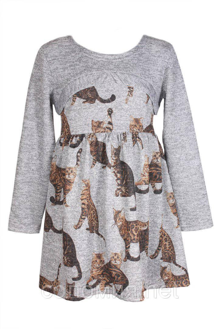 Очаровательное платье серого цвета для девочек 122-134р