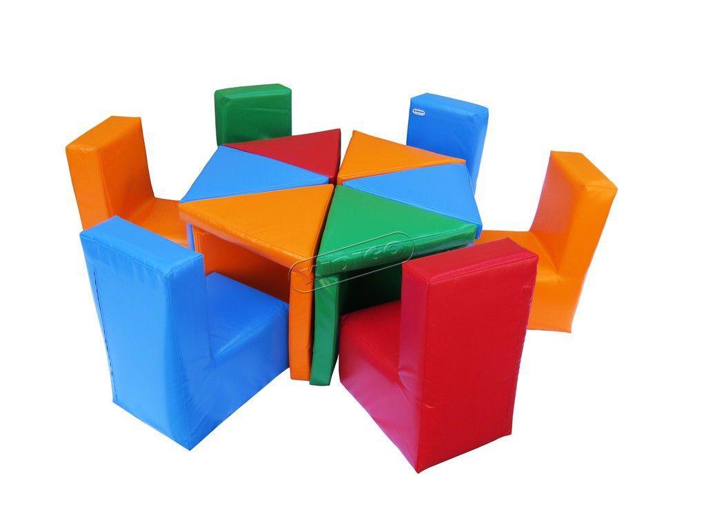 """Ігрові мягкі меблі, комплект дитячих меблів """"Цвітик"""""""
