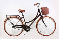 """Городской велосипед ARDIS """"VERONA"""" 28"""" женский с корзиной и багажником, Коричневый"""