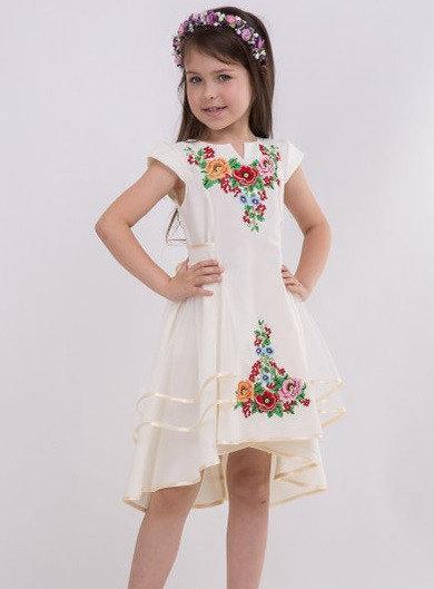 bd3e50c06703c13 Нарядное вышитое платье для девочки с фатином от оптово-розничного ...