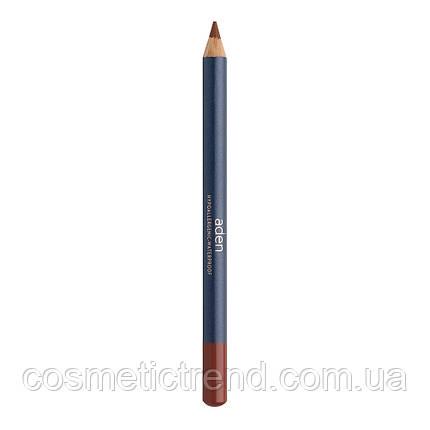 Карандаш для губ водостойкий деревянный Lipliner Beech N33 (натуральный розовый) Aden Cosmetics , фото 2