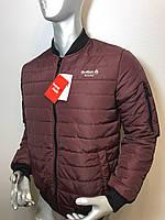 Мужская куртка бомбер Reebok из плащевки копия