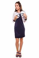 Классическое школьное платье с интересным дизайном для девочек 140-152р