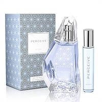Женский парфюмерный набор Perceive (парф.вода 100мл+парфюм.вода 10мл). Озоново-цветочный аромат