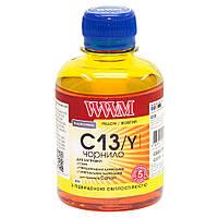 Чернила WWM для Canon CLI-426Y/CLI-521Y 200г Yellow Водорастворимые (C13/Y) светостойкие
