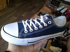 Конверси жіночі і чоловічі темно сині кросівки, кеди конверси AIL STAR в стилі Converse, фото 3