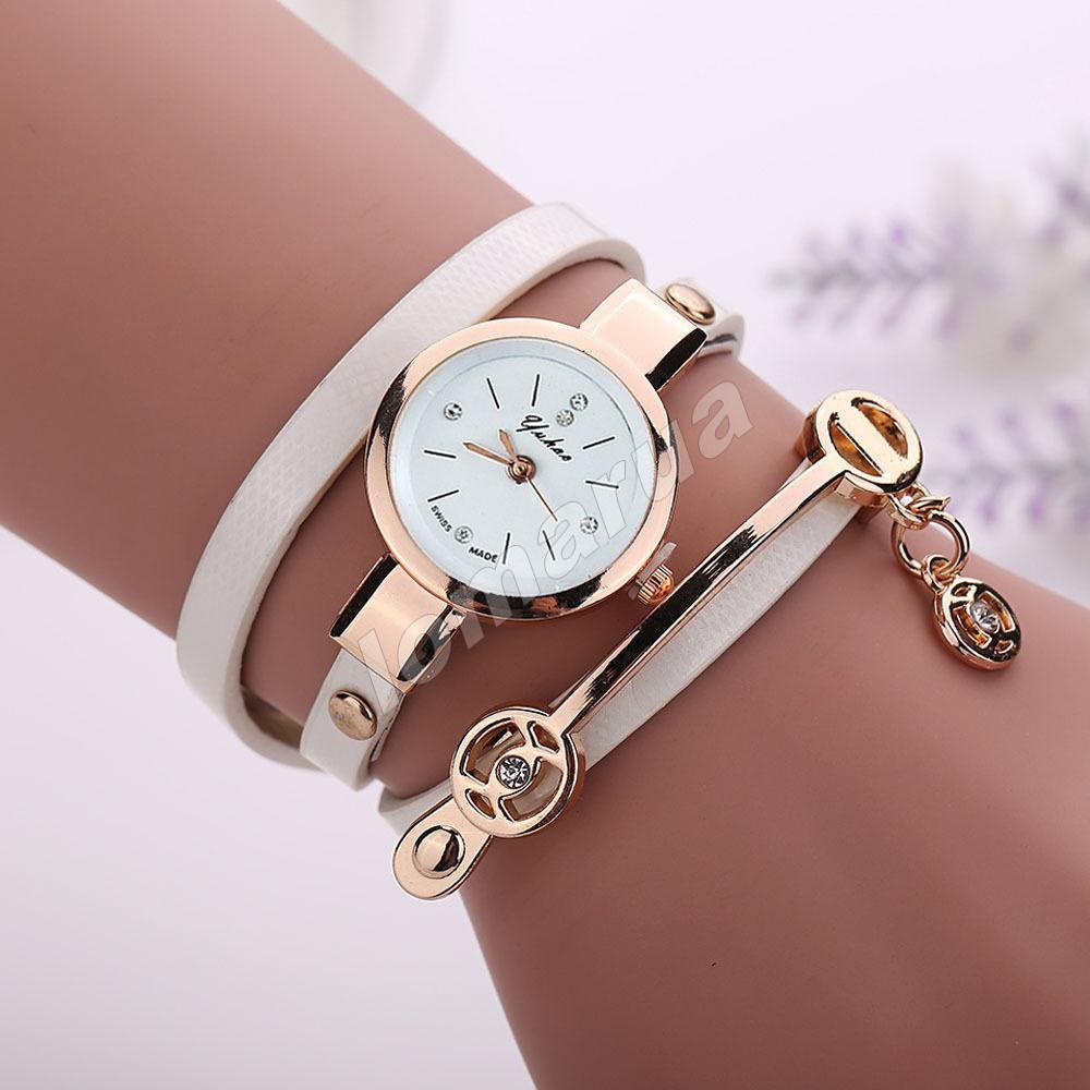 Женские часы-браслет со стразами White