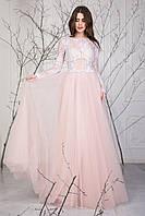 Пышное женское платье с гипюром Нимфа