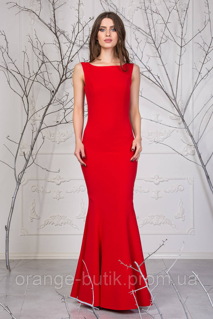 42bbbd9bca5 Женское красное платье-