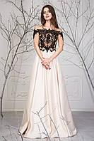 Женское платье с открытыми плечами Сандра