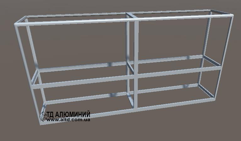 Прилавки алюминиевые торговые   Конструктор из торговых профилей М-6