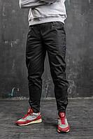 Штаны мужские, брюки, карго, черные