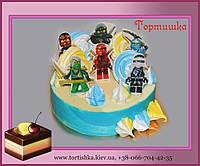 Торт Ниндзяго с топперами