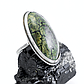 Змеевик (Серпентин), нейзильбер, кольцо, 1054КЦЗ, фото 2