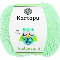 Пряжа Kartopu AMİGURUMİ мятный №507 хлопок для ручного вязания