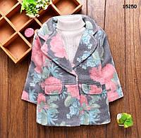 Демисезонное пальто для девочки. 12-18;  18-24 мес, фото 1