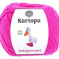 Пряжа Kartopu AMİGURUMİ малиновый №771 хлопок для ручного вязания
