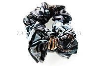 Резинка для волос бант газетка с пряжкой, длина бантика: 9 см, 20 штук в упаковке