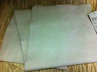Стильный однотонный вязаный шарф цвет белый