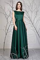 Атласное женское платье в пол Далла