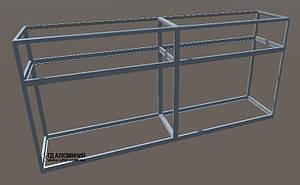 Прилавок из алюминиевого профиля | Конструктор из торговых профилей М-8