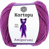 Пряжа Kartopu AMİGURUMİ фуксия №1749 хлопок для ручного вязания