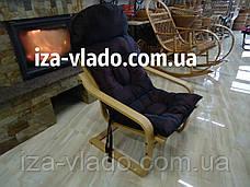 Кресло-лягушка *VLADO* — светлый бук / темная накидка, фото 2