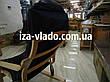 Кресло-лягушка *VLADO* — светлый бук / темная накидка, фото 5