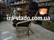 Кресло-лягушка *VLADO* — светлый бук / темная накидка, фото 3
