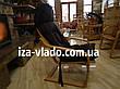 Кресло-лягушка *VLADO* — светлый бук / темная накидка, фото 4