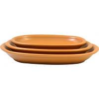 Блюдо сервировочное керамическое 22*15 см Keramia 24-237-031 овальное Теракота