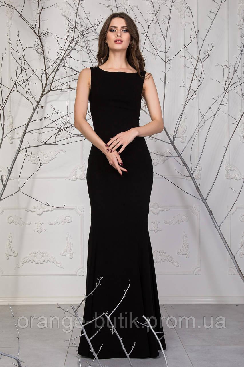 a335455ec223 Облегающее Черное Платье с Гипюром на Спинке Ирен — в Категории ...