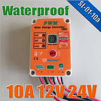 Контроллер заряда водонепроницаемый  Wincong  SL-01A-10A для LiFePO4 аккумуляторов