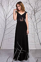 Элегантное вечернее женское платье с гипюром Лорен