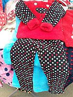 Детская теплая пижама в расцветке