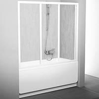 Двери для ванны Ravak 180 см AVDP3-180 белые+grape 40VY0102ZG