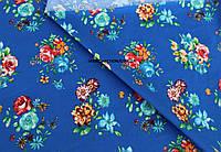 Джинс коттон стрейч цветная (электро-синий)