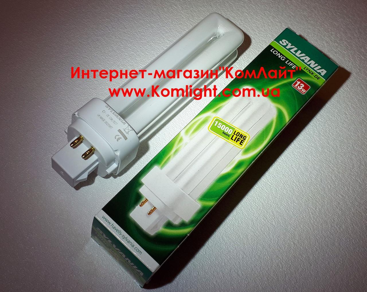 Лампа SYLVANIA LYNX CF-DE 13W/827 G24q-1 4p (Великобритания)