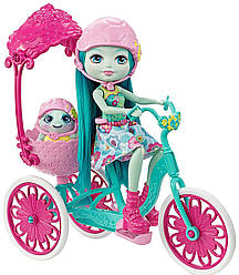 Черепашка Тейли прогулка на велосипеде Набор Enchantimals Built for Two Doll Playset, Turtle & Tricycle