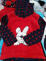 Детская теплая пижама с капюшоном