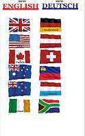 """Набор декоративных стендов """"Флаги разных стран"""""""