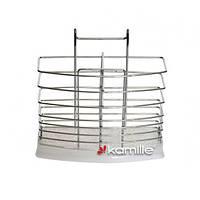 Подставка под столовые приборы с поддоном, из хромированной стали Kamille 0195