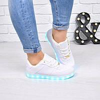 Кроссовки кеды женские Leds, лед, светящиеся, 41 размер