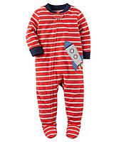 Пижама слип Carters микрофлис; 2, 3, 4 года
