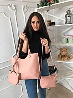 Женская сумка 3 в 1 (сумка+клатч+мини-сумка)