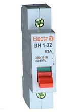 Выключатель нагрузки  ВН1-32 1 полюс 100A  230B
