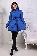 Очень красивое зимнее пальто-колокольчик с пышной юбкой