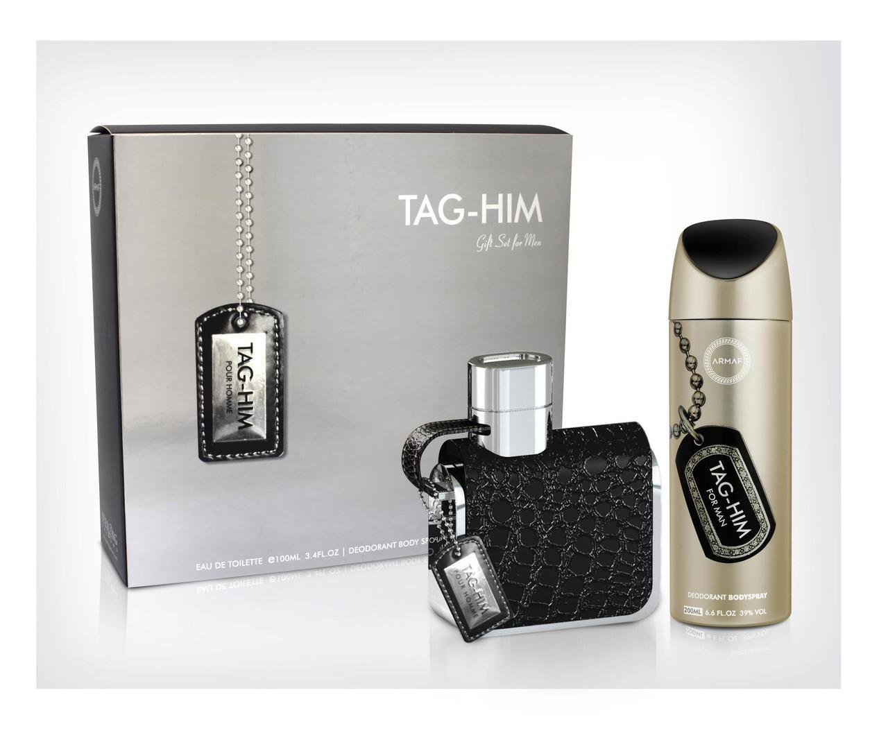 Подарочный набор для мужчин Armaf TAG-HIM (edt100 ml + b/s 200 ml)